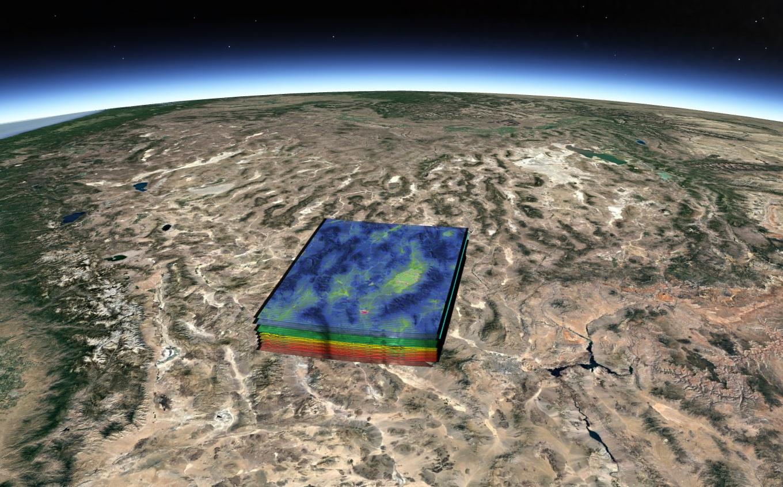 Hyperspektralt bilde tatt og analysert av HyperScout-kameraet i bane på satellitten GOMX-4b. Grafikk: S[&]T/cosine
