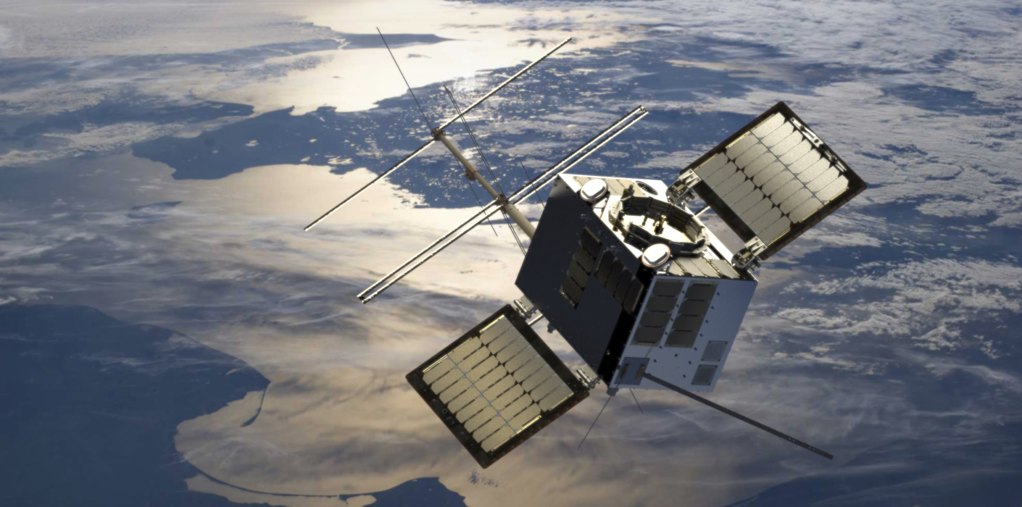 NorSat-TD is a new Norwegian satellite for demonstrating technology in space. Illustration: Space Norway