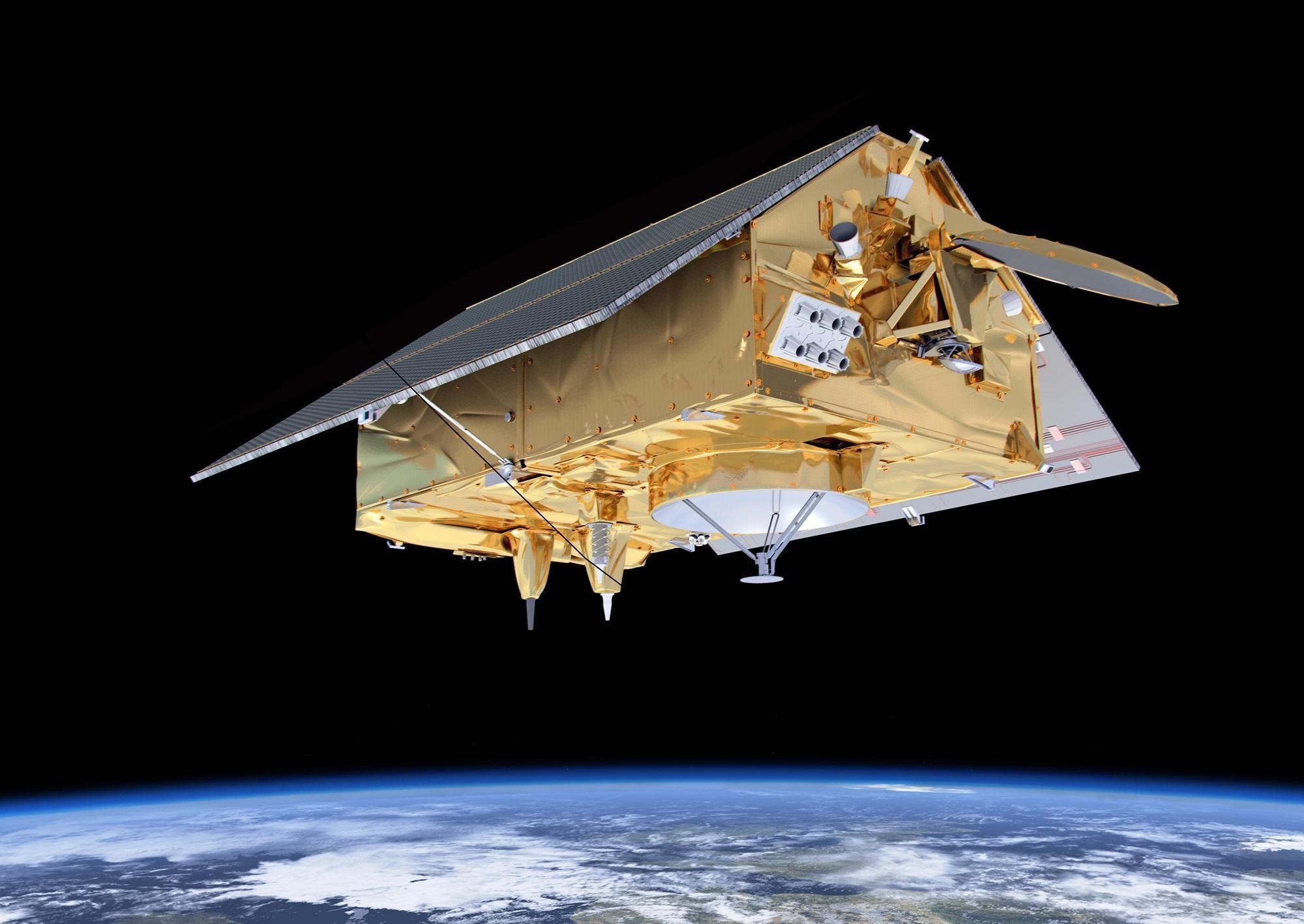 Sentinel-6 skal måle det globale havnivået. Illustrasjon: ESA/ATG medialab