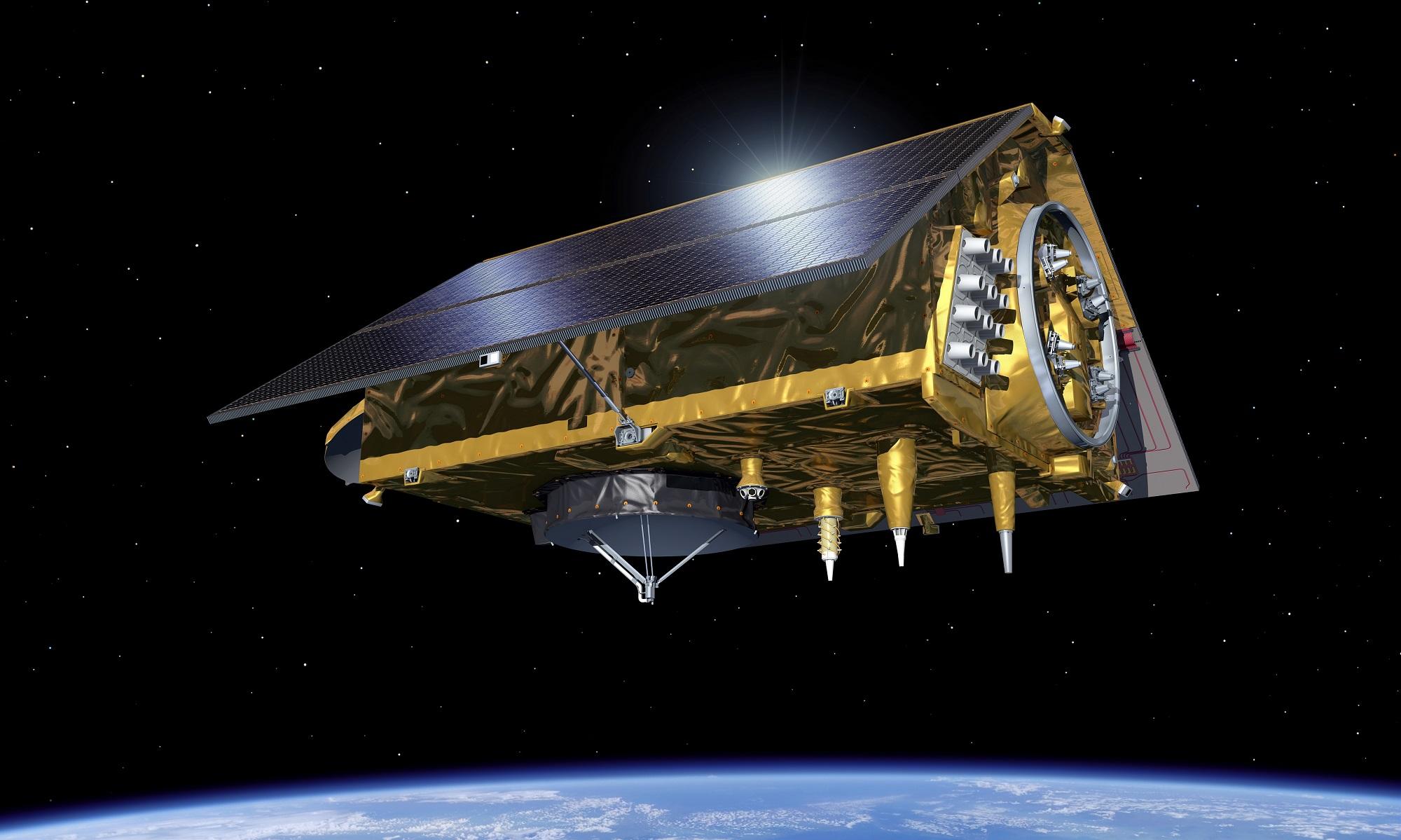 Sentinel-6 skal måle det globale havnivået. Illustrasjon: ESA
