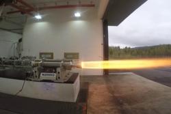 Test av Nammos nye hybridrakett i mai 2016. Foto: Nammo