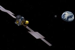 Earth Return Orbiter slipper løs kapselen med prøver fra Mars for landing på jorda. Illustrasjon: ESA/ATG medialab