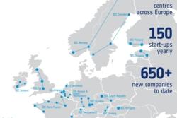 ESA har mer enn 20 Business Incubation Centres i Europa. Illustrasjon: ESA
