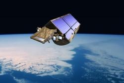 Forskningssatellitten CryoSat måler verdens ismasser. Her over Grønland.