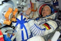 Alexander Gerst, tysk astronaut hos ESA, ble skutt opp til romstasjonen for 2. gang onsdag 6. juni 2018. Foto: ESA