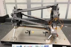 Prototech i Bergen har også laget føttene som holder oppe hele NISP-instrumentet til romteleskopet Euclid. Foto: Laboratoire d'Astrophysique de Marseille/CNRS/AMU/CNES/Euclid Consortium