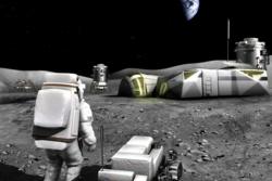 Slik kan en fremtidig base på månen se ut. Illustrasjon: ESA