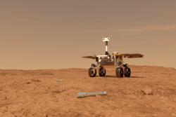 Sample Fetch Rover skal bygges av den europeiske romorganisasjonen ESA og finne igjen prøvene på Mars. Illustrasjon: ESA/ATG medialab