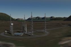 Slik kan en oppskytingsrampe for småsatellitter på Andøya Space Center se ut. Grafikk: Andøya Space Center