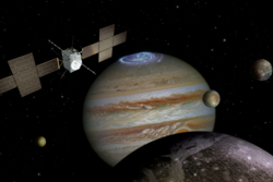 Juice, ESA's planned orbiter to Jupiter and its large moons. Illustration: ESA/ATG medialab