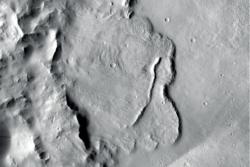 ESAs romsonde Mars Express har oppdaget et område som hadde grunnvann tidligere i planetens historie. Foto: NASA/JPL-Caltech/MSSS