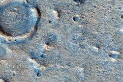 Oxia Planum sett av NASAs banesonde Mars Reconnaissance Orbiter. Foto: NASA/JPL/University of Arizona