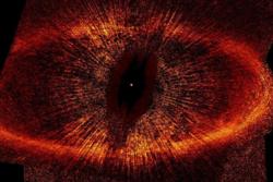 Et fjernt stjernesystem eller et skummelt øye?