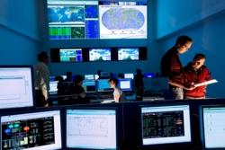 Kontrollsenteret for Galileo-satellittene i Tyskland. Foto: DLR