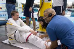 ESAs danske astronaut, Andreas Mogensen, før trening på romvandring i basseng i USA. Foto: NASA/ESA-J.Blair