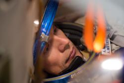 Andreas Mogensen, ESAs danske astronaut, forbereder seg til oppskytingen som skal skje 1. september 2015 i en Sojus-kapsel. Foto: ESA/S. Corvaja