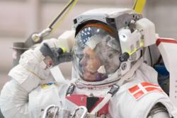ESAs danske astronaut, Andreas Mogensen, under trening på romvandring hos NASA. Foto: NASA/ESA-J.Blair
