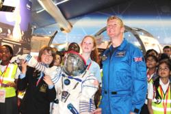 Tim Peake, ESAs britiske astronaut, i prosjektet Mission X som skal inspirere barn og unge til å trene og spise riktig. Foto: ESA