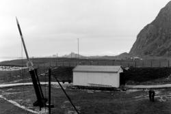 Ferdinand 1, den aller første sonderaketten i Norge, skytes opp på Andøya rakettskytefelt 18. august 1962. Foto: ARR