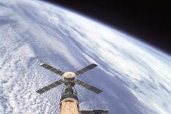 Skylab var den første amerikanske romstasjonen, i bruk fra mai 1973 til februar 1974. Foto: NASA