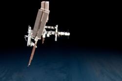 Romstasjonen, Endeavor og ATV i mai 2011. Foto: NASA/ESA/P. Nespoli