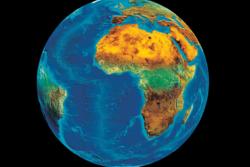 Satellittbilde av jorda tatt av Meteosat. Foto: EUMETSAT/DLR