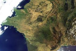 Satellittbilde av Frankrike tatt av Envisat. Foto: ESA