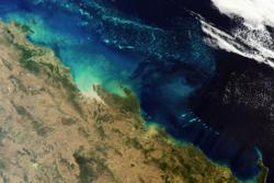 Satellittbilde av Australias Great Barrier Reef sett av Envisat. Foto: ESA