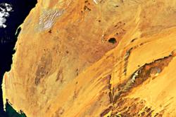 Satellittbilde av Mauretania tatt av Envisat. Foto: ESA