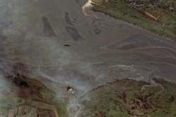 Satellittbilde av Mont Saint Michel i Frankrike. Foto: CNES 2012/Astrium Services/Spot Image