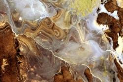 Deler av Sahara-ørkenen i Algerie sett av ALOS. Foto: JAXA/ESA