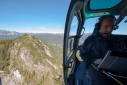 Testing av Galileo sammen med EGNOS og GPS over Alpene. Foto: ESA/S. Corvaja