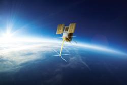 Den norske satellitten NorSat-2. Illustrasjon: Norsk Romsenter