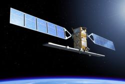 Den europeiske jordobservasjonssatellitten Sentinel 1. Illustrasjon: ESA