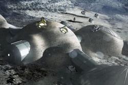 En fremtidig base på månen kan legges i tunneler gravd ut av lava som beskyttelse mot kosmisk stråling, meteoritter og den lave temperaturen. Grafikk: ESA