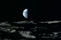 Så mørkt blir det under natten på månen og den varer i 14 jorddager. Grafikk: JAXA/NHK