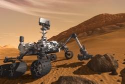 Roveren Curiosity på Mars.