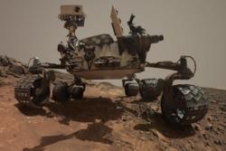 Roveren Curiosity feiret 5 år på Mars den 5. august 2017. Foto: NASA/JPL