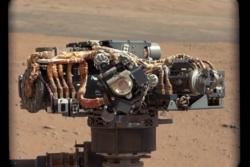 Curiositys hovedkamera, Mars Hand Lens Imager, eller MAHLI. Foto: NASA/JPL-Caltech/Malin Space Science Systems