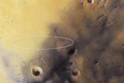 Landingsstedet til Schiaparelli i Meridani Planum på Mars sett ovenfra. Stedet ble valgt ut fordi det er jevnt og flatt og har spor etter flytende vann. Foto: ESA/DLR/FU Berlin