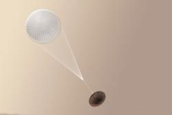 Schiaparelli skulle teste ny landingsmetode på Mars, men fikk datafeil og krasjet. Grafikk: ESA/ATG medialab