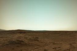 Landskap på Mars sett av roveren Curiosity. Foto: NASA