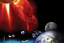 Romvær kan påvirke elektronikk både på jorda og i bane. Grafikk: NASA