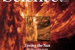 Høsten 2014 publiserte en spesialutgave av Science fem artikler fra forskningen med solsatellitten IRIS, som da hadde vært i rommet knapt et år. Forskere ved Institutt for teoretisk astrofysikk ved Universitetet i Oslo var med på alle artiklene. Grafikk: Science/IRIS