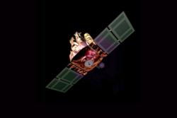 Solsatellitten SOHO ble skutt opp 2. desember 1995 og feiret sitt 20-årsjubileum i rommet i 2015. SOHO har forsket på solas indre, overflate og atmosfære, samt solvinden og kometer. Grafikk: SOHO/A. Lutkus