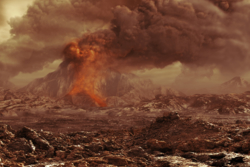 Målinger fra romsonden Venus Express viser at Venus kanskje fortsatt har aktive vulkaner. Illustrasjon: ESA