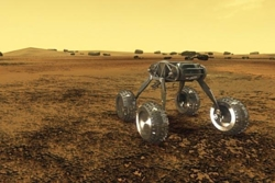 Amerikansk konsept av en tenkt rover på Venus. Grafikk: NASA