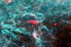 Et område med stjernedannelse i Melkeveien i stjernebildet Persevs, tatt av romsonden Planck.
