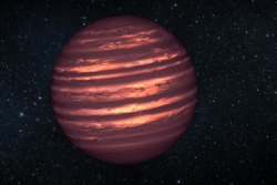 En brun dverg er en stor gassplanet som ikke har blitt en stjerne. Illustrasjon: NASA