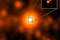 To brune dverger i bane rundt hverandre. Dette systemet ligger bare 6,5 lysår borte fra jorda og er oppdaget med romteleskopet WISE. Foto: NASA/JPL/Gemini Observatory/AURA/NSF
